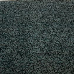 1800GetARug - Paisley Design Blue Hand Knotted Rug Wool and Silk Sh10597 - About Modern & Contemporary