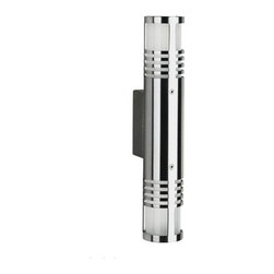 """Albert - Albert Outdoor wall sconce - 38/690206 - Product Details:    The outdoor wall sconce 38/690206 by Albert has been designed and made in Germany.  This Top of the line outdoor wall sconce features a Premium brushed stainless steel finish with a blown opaline glass.   Lighting fixtures by Albert Quality feature a Top quality.  Albert only uses selected materials, which also stand firm against the increased pressure on the environment. For example aluminium, brass, stainless steel, synthetic resin varnish, silicate-, acrylic- and impact-resistant glasses. Albert products are checked by their highly-qualified stuff. This is the guarantee for their national and international customers, wholesalers and communities to buy high albert-quality. Components which are not produced by Albert like glasses, synthetic materials and electronic components are delivered from well-known German and European companies.                                     Manufacturer:                                      Albert                                                      Designer:                                     In house design                                                     Made in:                                      Germany                                                     Dimensions:                                     Height: 13"""" (33 cm) X Diameter: 2.3"""" (6 cm) X Projection: 3.74"""" (9.5 cm)                                                      Lighting:                                      2 X max. 40W Line Voltage Halogen QT 14                                                              Materials:                                      stainless steel , blown glass"""