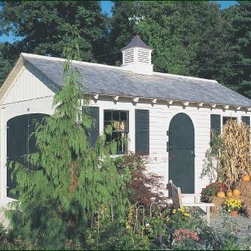 10' x 20' Garden Office - This particular Small Building functions as an office for a garden center. Perhaps it will stimulate your imagination for a use that would be ideal for you. Doors and windows can be positioned to meet specific needs.
