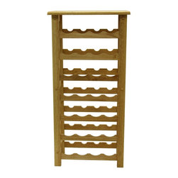 Winsome Wood - Winsome Wood 28-Bottle Wine Rack with Beech Finish X-82038 - Holding 28 bottles without taking up much floor space, this wine rack is perfect for those trying to conserve space. Its simple, clean design will fit in anywhere.