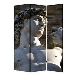 "Rome Screen - Why say, ""Arrivederci, Roma!"" when you can bring the splendor of the city home? This three-panel, double-sided screen lets you create a sense of intimacy in any open area, and it's made of lightweight canvas to reposition with ease."