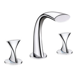 Ultra Faucets - Ultra Faucets UF55510 Bathroom Faucet - Two-handle design for precise temperature adjustment