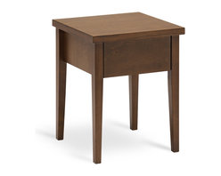 Bryght - Spiro Single Drawer Cocoa Nightstand - A mid century inspired design the Spiro nightstand brings a sleek and modern feel to your bed room. Beautifully tapered legs with a single drawer for storage makes this a perfect accompaniment to any bed.