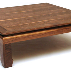 Ming Coffee Table - Square - This Ming style coffee table with a square top is another version of the rectangle top Ming table, providing the same impression of contemporary - Asian nuance style mix.