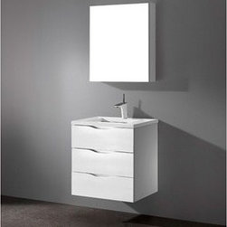 """Madeli - Madeli Bolano 24"""" Bathroom Vanity with Quartzstone Top - Glossy White - Madeli brings together a team with 25 years of combined experience, the newest production technologies, and reliable availability of it's products. Featuring sleek sophisticated lines Madeli vanities are also created with contemporary finishes and materials. Some vanities also feature Blum soft-close hardware. Madeli also includes a Limited 1 Year Warranty on Glass Vessels, Basin, and Counter Tops. Features Wall Mounted Three Drawer Vanity Glossy White finish 1-1/4""""H Quartzstone Countertops come in White or Soft Grey finish Quartzstone Countertops come with single faucet or 8"""" widespread faucet holesCeramic undermount sink with overflow Faucet and drain are not includedNo backsplash Matching mirror and medicine cabinet available Limited 1 Year Warranty on Glass Vessels, Basin, and Counter Tops How to handle your counter Spec Sheet Installation Instructions"""