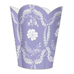 Marye-Kelley - Lavender Provencial Wastebasket - Lavender Provencial Wastebasket