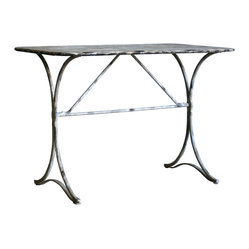 French Country Wrought Iron Dining Table