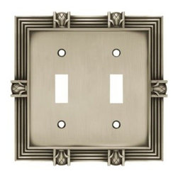 Liberty Hardware - Liberty Hardware 64460 Pineapple WP Collection 4.96 Inch Switch Plate - Brushed - A simple change can make a huge impact on the look and feel of any room. Change out your old wall plates and give any room a brand new feel. Experience the look of a quality Liberty Hardware wall plate.. Width - 4.96 Inch,Height - 4.9 Inch,Projection - 0.3 Inch,Finish - Brushed Satin Pewter,Weight - 0.54 Lbs