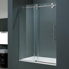 Vigo Industries Vigo Industries VG6041 Frameless Tempered Glass Sliding Tub Show