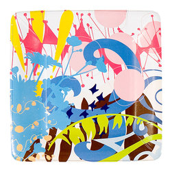 Working Class Studio - Brad Collection Paper Plates - Dessert - Ice cream and cake never had it so great! These wildly colorful paper plates, just the right size for after-dinner delights, will make your next celebration a stylish success.