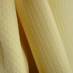 Puff Pique Butter Summerhill Matelasse Fabric - Summer Hill Fabric Puff Pique in the color Butteris a top notch matelass fabric. Great for bedding, pillows and window treatments.
