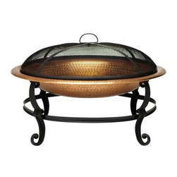 Solid Copper Fire Bowl - What summer night is complete without s'mores over an open fire? I love the touch of copper on this fire bowl.