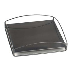 Howard Elliott No Tip Block Tray Titanium - Place the steel tray on top of your Block to make it a table; put it on the bottom for a decorative base; or place it between two or more Blocks to secure them in a stack. You can even use it on its own as a serving tray.