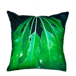 Divine Designs - Divine Designs Leaves Outdoor Pillow - 20L x 20W in. - Green - TY-014-119 - Shop for Cushions and Pads from Hayneedle.com! The Divine Designs Leaves Outdoor Pillow - 20L x 20W in. - Green has a unique design that compliments your natural theme in or out of doors.