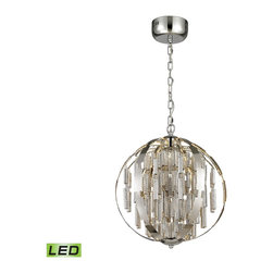 ELK Lighting - ELK Lighting 11726/LED Light Cylinders Polished Chrome Pendant - ELK Lighting 11726/LED Light Cylinders Polished Chrome Pendant
