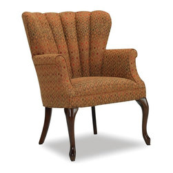 Sam Moore - Sam Moore Annabelle Exposed Wood Chair - Spice Multicolor - 4666.13/2543 SPICE/E - Shop for Living Room Chairs from Hayneedle.com! The Sam Moore Annabelle Exposed Wood Chair - Spice has a traditional Queen Anne barrel shape with a handsome channel back tight seat and tailored welt trim. Its curved legs finished in espresso and gorgeous pattern inspire designer relaxation.About Sam MooreSince 1940 Sam Moore's hand-crafted upholstered furniture has offered extraordinary quality comfort and style. This Bedford Virginia-based company proudly crafts its products right here in the USA. From classic to transitional to contemporary styles Sam Moore takes time with every detail making sure each piece is something you'll appreciate in your home.