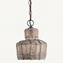 Lafitte Pendant - Nautical done right. I love the filtered light shining through this jute pendant.