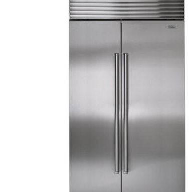 Sub-Zero BI-42S Side-by-Side Refrigerator/Freezer - If you're going to do a side-by-side unit, I suggest you go for at least a 42 inches, and if you have room for a 48-inch one, even better. The 36-inch side-by-sides don't have a lot of of cubic storage in the refrigerator section.