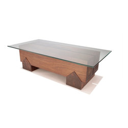 Hercules II Coffee Table - The Hercules series was inspired by the log house timber joinery of the early American pioneers. The rugged elegance and simple form of the Hercules II Coffee Table will always be in style.