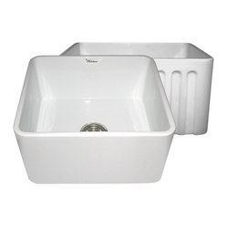 Whitehaus Whflpln2018-White Reversible Sink