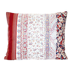 Vintage Fabric Patchwork Pillow