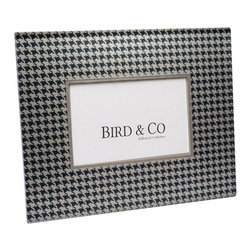 Belle & June - Black Houndstooth Frame - This exquisite, unique frame incorporates elegant patterns within a Lucite panel. The panel depth creates a luminous fresh look perfect for any home decor. The frames are sophisticated, fun and timeless. Comes in gift box. Hand crafted in the USA.