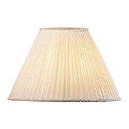 Lite Source - Mushroom Pleat Shade - Shade top: 7 in. L x 7 in. W. Shade bottom: 17 in. L x 17 in. W. Shade height: 12 in.. Weight: 2.4 lbs.