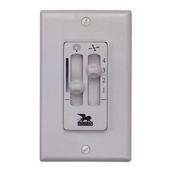 Savoy House - Wall Mount Fan/Light Control - Fanlight dual slide fan control; Fan-light dual slide fan control; Four speed fan control; Full range Diming; Installs in standard 3-wire single box wall switch; Face plate included (Ivory and White); For use with most ceiling fans; Wall unit can only control one fan; 1 year limited warranty.