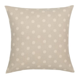 Look Here Jane, LLC - Dosset Dots Grey Natural Pillow Cover - PILLOW COVER