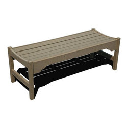 Fifthroom - Siesta Backless Garden Bench - Although the backless look is all the rage this season, some benches don't have the right build for it.  But our daring Backless Garden Bench really pulls it off, looking absolutely smashing in any of its variety of sizes and fashionable colors.  And, since it's made from high-density 100% Recycled Poly Lumber, its looks will be the only thing smashing about it.