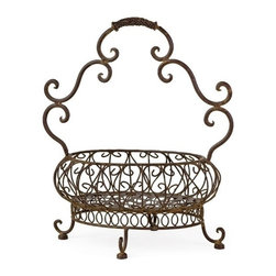 "IMAX - Filigree Basket - Robust iron filigree basket with handle Item Dimensions: (19.25""h x 17.5""w x 10.75"")"