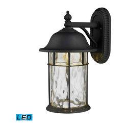 ELK Lighting - ELK Lighting 42260/1 Lapuente Matte Black LED Outdoor Wall Sconce - ELK Lighting 42260/1 Lapuente Matte Black LED Outdoor Wall Sconce