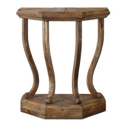 Uttermost - Icess Wooden Console Table - Made from 100% reclaimed fir wood, lightly stained to highlight the natural grain, distress marks and unique characteristics of recycled wood.