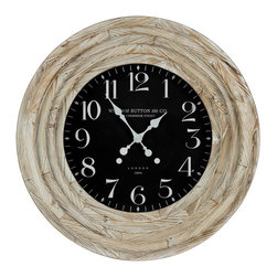 "COOPER CLASSICS - Mayflower Wall Clock 36"" - For those who love wood this gorgeous clock is loaded with"