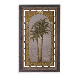 Bassett Mirror - Bassett Mirror Framed Under Glass Art, Palms I - Palms I