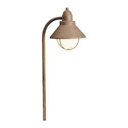 Kichler 1-Light Landscape Fixture - Olde Brick - One light landscape fixture. This lighting outdoor path light features a rustic olde brick finish that accentuates the look of the maritime inspired shade and beautiful side mount, making it perfect for gardens and other outdoor spaces.