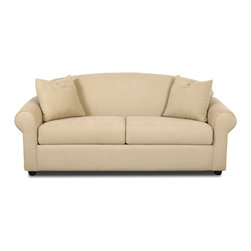 Savvy - Chicago Full Sleeper Sofa, Fastlane Oatmeal, Air Dreamsleeper - The Chicago Full Sleeper Sofa is offered in three durable upholsteries.  The Chicago provides traditional styling with rolled arms and a sloping camel-back.