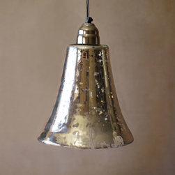 Urban Mix Bell Pendant - Illuminate any space with this rustic pendant light. Hang it over a reading chair, in the foyer, or paired with another over your dinner table. Its mercury glass construction with a distressed finish creates just the right ambiance for any occasion and is sure to add a little urban edge into the mix.