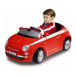 "MacDue - Motorama Jr. Fiat 500 Ride-on Car - It's cool! It's ultra-fashionable! It's retro-chic. The cutest car in the world is coming, and it's ready to conquer American hearts! The new fiat 500 is an icon for this century bringing Italian style to the world! Now your children can be among the first to experience the pleasure of driving this cult-status vehicle! The true-to-life, scale Fiat 500 enables your kids to enjoy the same great feelings you'll have for the full-size version. Features: -Lights and sounds. -Speed 2.7 mph. -Includes 6V7AH rechargeable battery pack for the car. -Child controls the car. -Durable plastic construction in red. -Recommended for 3 to 6 years of age. -Material: Plastic. -Assembly: No Assembly Required. -15.7"" H x 19.7W x 36.6 L."