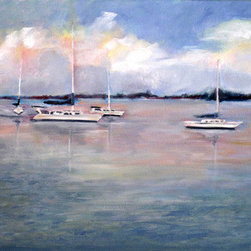 Mar Vista (Original) by Fontaine Jacobs - A relaxing day on vacation deserves a relaxing painting. Sailing painting and observing things around me are some of the things that I enjoy most