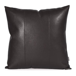 Howard Elliott - Avanti Black 20 x 20 Pillow - Change up color themes or add pop to a simple sofa or bedding display by piling up the pillows in a multitude of colors, textures and patterns. This Avanti Pillow features a sultry black color, textured grain and a paneled design to give the look of true leather.