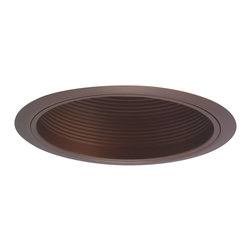 "Nora Lighting - Nora NTM-34 6"" Bronze Stepped Baffle w/ Bronze Metal Ring - 6"" Bronze Stepped Baffle w/ Bronze Metal Ring"