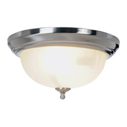 Premier - Two Light Sonoma 13.25 inch Flush Mount - Brushed Nickel - Premier 617263 13-1/4in. W by 6-1/4in. H Sonoma Lighting Collection 1 Light Flush Mount, Brushed Nickel.