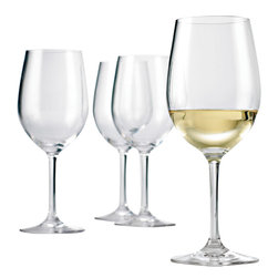 Wine Enthusiast - Wine Enthusiast Break-Free PolyCarb Chardonnay Wine Glasses - Look closely: You might swear that these chardonnay wineglasses are made of fine crystal, but they're not. They're actually made of polycarbonate, which means that you will never have to deal with a broken wineglass again. The set of four is dishwasher safe and perfect for all your indoor or outdoor entertaining.