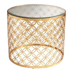 Cyan Design - Cyan Design 06347 Gold Leaf Dante Table - Cyan Design 06347 Gold Leaf Dante Table