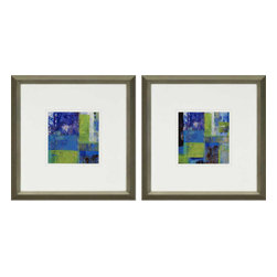 Paragon - Tealscape PK/2 - Framed Art - Each product is custom made upon order so there might be small variations from the picture displayed. No two pieces are exactly alike.