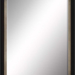 Paragon Decor - Beveled Mirror, Contemporary Black and Gray, 36x48 - Mirror, Mirror, on the wall, who's the most beautiful mirror of them all? Reflect your impeccable taste with this contemporary-style mirror, which features a gorgeous simple black and gray frame and high-quality interior beveled mirror. This piece measures 42 inches wide, 2 inches deep, and 54 inches high.