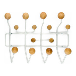 Ways to Hang Coat Rack in Natural - Made from a framework of coated steel wire with lacquered natural wood balls, this modern take on a classic hat rack gives you enough knobs and nodules for all your accessories. Appealing to the eye with its use of angles and shapes, the maple knobs add the perfect piece of natural texture.