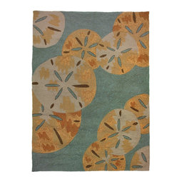 Homefires - Contemporary Sanddollars By The Sea 3'x5' Rectangle Blue Area Rug - The Sanddollars By The Sea area rug Collection offers an affordable assortment of Contemporary stylings. Sanddollars By The Sea features a blend of natural Blue color. Hand Hooked of Polypropylene the Sanddollars By The Sea Collection is an intriguing compliment to any decor.