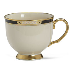 Lenox - Lenox Hancock Teacup - Enjoy a classic cup of tea served in a timeless design. The rim is richly accented in 24-karat gold.